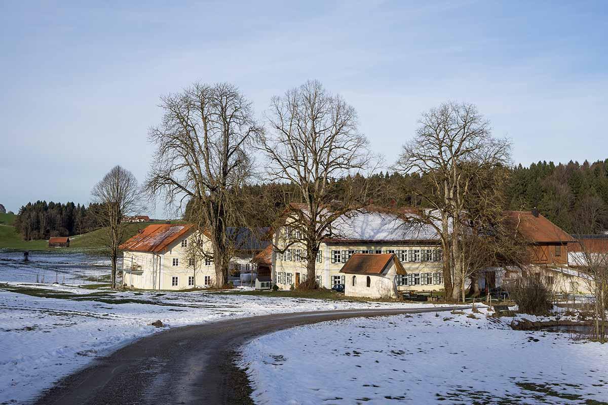 Die Holzmühle mit dem Atelier von Josef Speckmaier